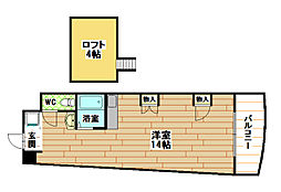 福岡県北九州市小倉北区日明5丁目の賃貸マンションの間取り