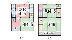 [一戸建] 兵庫県姫路市名古山町 の賃貸【兵庫県 / 姫路市】の間取り