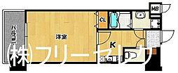 福岡県福岡市博多区中洲中島町の賃貸マンションの間取り