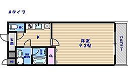 フジパレス住之江イースト[2階]の間取り
