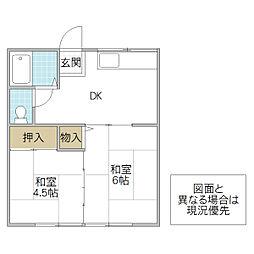 唐澤アパート[201号室号室]の間取り