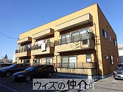 群馬県高崎市上大類町の賃貸アパートの外観