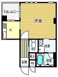T-SQARE UMEDA WEST[4階]の間取り