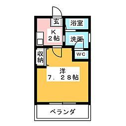クレフラスト野並B棟[1階]の間取り