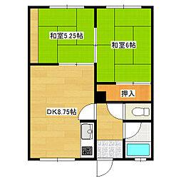ノースマンション1[7号室]の間取り