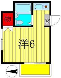 ハンプトンコート新松戸5[1階]の間取り