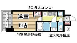 ララプレイス神戸西元町[802号室]の間取り