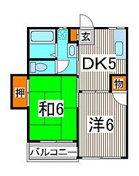 沖田ハイツ[2階]の間取り