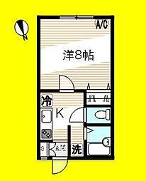 フィオーレハウス[1階G号室]の間取り