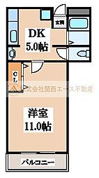 三国ヶ丘マンション[3階]の間取り