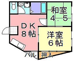 コンフォート千本南[2階]の間取り
