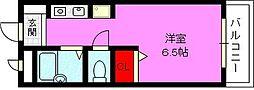 ステュディオ灰塚[1階]の間取り
