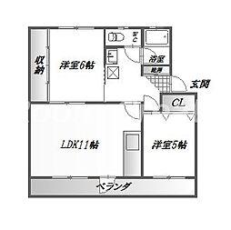 第1三宅ビル[4階]の間取り