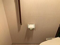 手すり付きトイレで高齢の方でも安心です。