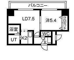 北海道札幌市中央区南九条西21丁目の賃貸マンションの間取り