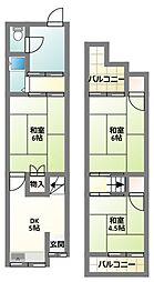 [テラスハウス] 大阪府寝屋川市高柳2丁目 の賃貸【/】の間取り