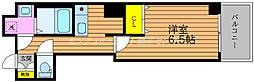 JR山陽本線 岡山駅 徒歩5分の賃貸マンション 4階1Kの間取り