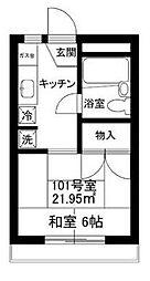 神奈川県横浜市神奈川区上反町2-の賃貸マンションの間取り