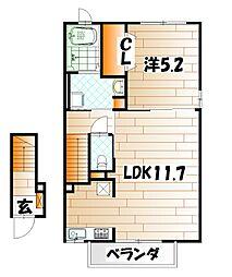 ビオラハウスII[2階]の間取り