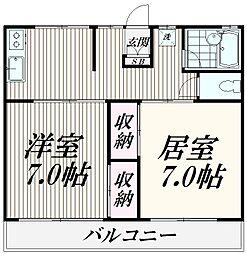 東京都三鷹市上連雀5丁目の賃貸アパートの間取り