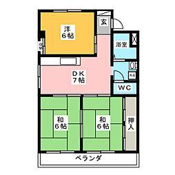 アルフォレスト羽島[3階]の間取り