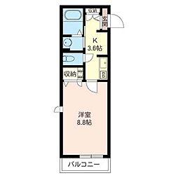 アメニティメゾンI[2階]の間取り
