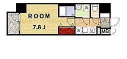 プレサンス新大阪ザ・デイズ[3階]の間取り