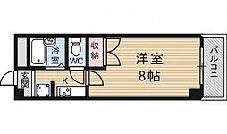 京都府京都市伏見区竹田西段川原町の賃貸マンションの間取り