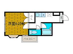 シャトレー文京[2階]の間取り