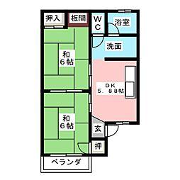 ロイヤルハイツ 1[1階]の間取り