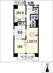 グランドコート88[6階]の間取り