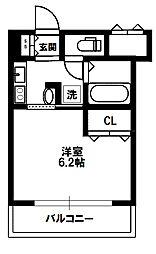 エステムコート新大阪VIエキスプレイス[6階]の間取り