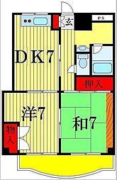 リバーサイドふじ[3階]の間取り