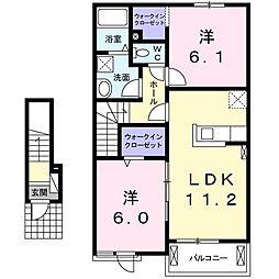 メロウ・リ−フB[0202号室]の間取り