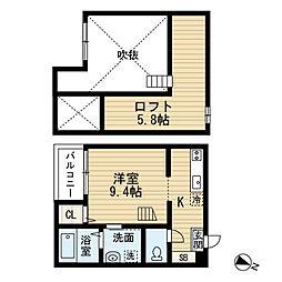 クローバー[2階]の間取り