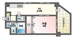 ロイヤルハイツ南栄[2階]の間取り