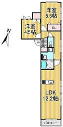 (仮称)下目黒4丁目メゾン 2階2LDKの間取り