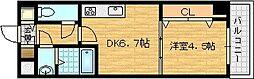 シャルマンフジ福島[5階]の間取り