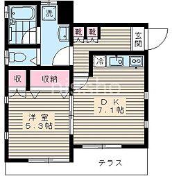 7219−プチ若宮[A号室]の間取り