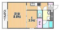岡山県岡山市北区大供本町の賃貸マンションの間取り