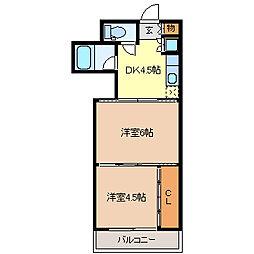 シャングリラ大和町[5階]の間取り
