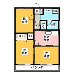 レジデンス・ラ・セーヌ[1階]の間取り