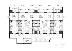 福岡市地下鉄空港線 西新駅 徒歩17分の賃貸マンション 4階1Kの間取り