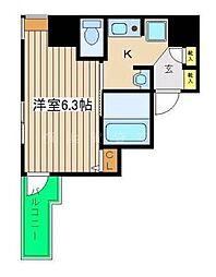 神奈川県横浜市中区本町3丁目の賃貸マンションの間取り