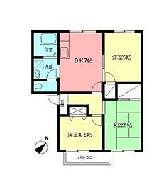 スカイコート茅ヶ崎[2階]の間取り