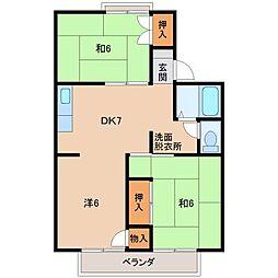 パレーシャル有家[2階]の間取り