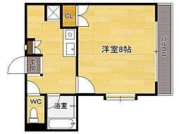 福岡県福岡市東区筥松3丁目の賃貸マンションの間取り