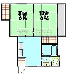 中谷コーポ[302号室号室]の間取り
