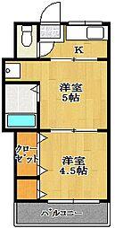 よろこび荘[17号室]の間取り