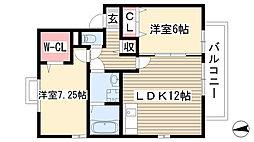 Casa Riviere[203号室]の間取り